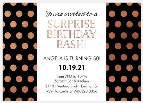 Cosmopolitan Adult Birthday Invitations