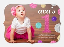 Girl birthday invitations photoaffections glitter dots filmwisefo