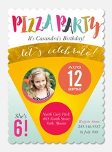 Pizza Party -  Birthday Invites