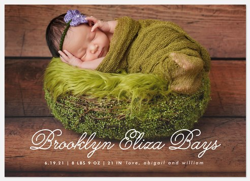 Delightful Joy Baby Birth Announcements