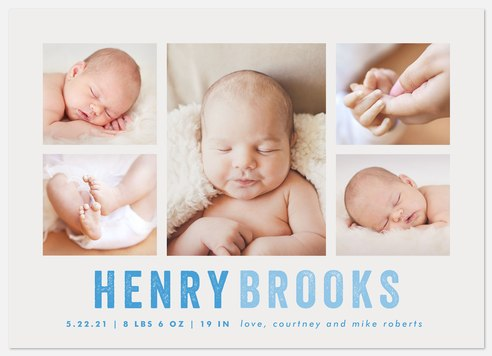 Little Moments Baby Birth Announcements