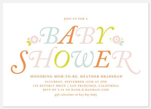Vintage Florets Baby Shower Invitations