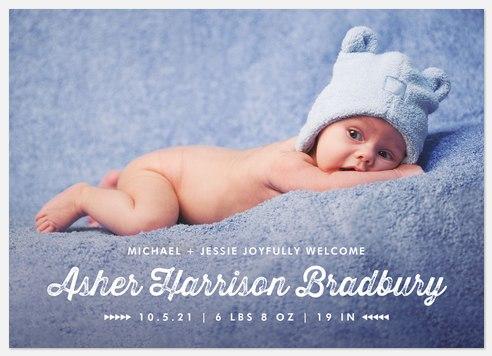 Vintage Esthetic Baby Birth Announcements