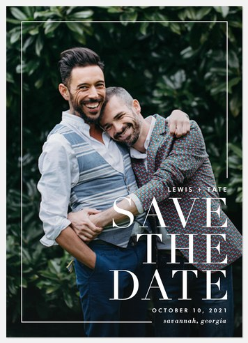 Modern Esthetic Save the Date Photo Cards