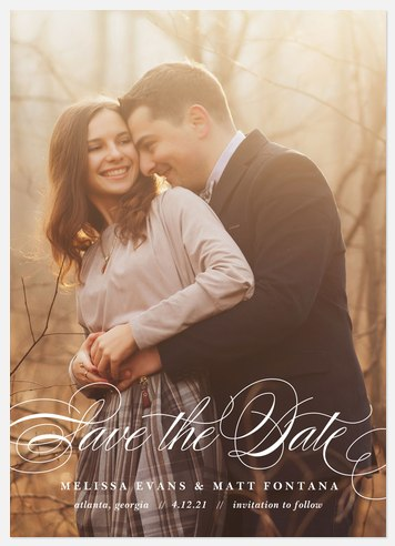 Dearly Beloved Save the Date Photo Cards