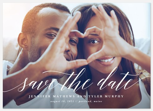 Adoring Script Save the Date Photo Cards