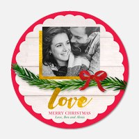 holiday photo cards - Scalloped Ornament