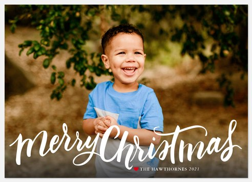 Whimsy Script  Holiday Photo Cards