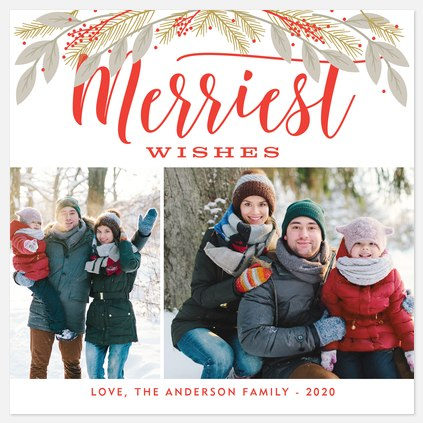 Merriest Cheer Holiday Photo Cards