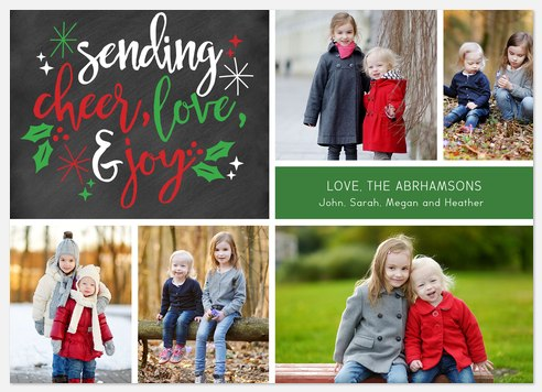 Magical Holly Holiday Photo Cards
