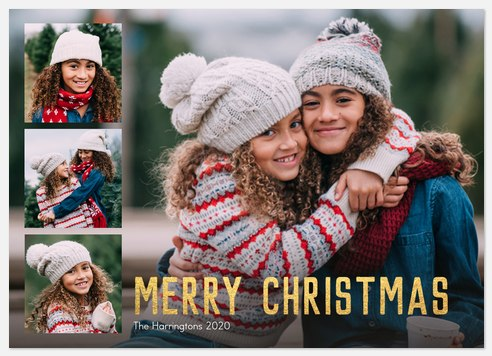 Gilded Christmas Holiday Photo Cards
