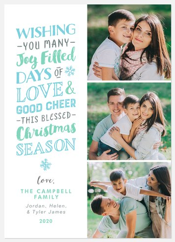 Joyful Days Holiday Photo Cards