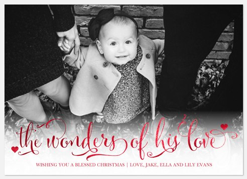Miraculous Wonders Holiday Photo Cards