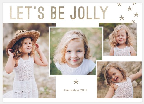 Jolly Shimmer Holiday Photo Cards