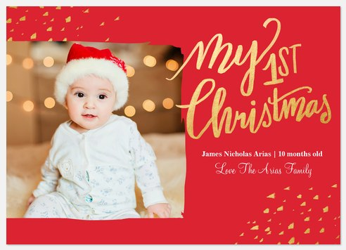 Shimmering Speckles Holiday Photo Cards