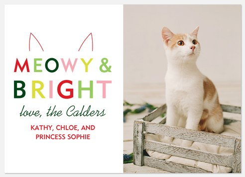 Meowy & Bright Holiday Photo Cards