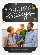 holiday photo cards - Glimmering Bursts