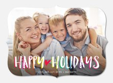 holiday cards - Colorful Wishes