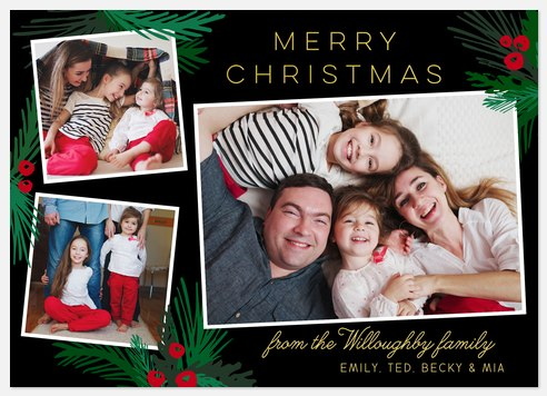 Woodland Berries Holiday Photo Cards