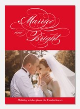 Opulent Script-Newlywed Christmas Cards