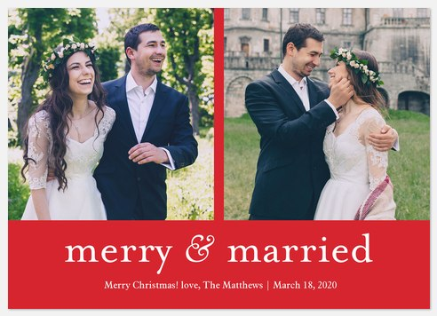 Merry Couple Holiday Photo Cards