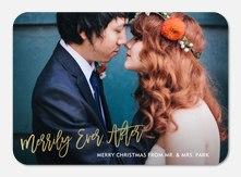 Newlywed Christmas Cards - Stylish Iridescence