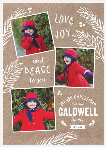 Krafty Boughs Holiday Photo Cards