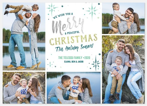 Shimmering Merriment Holiday Photo Cards
