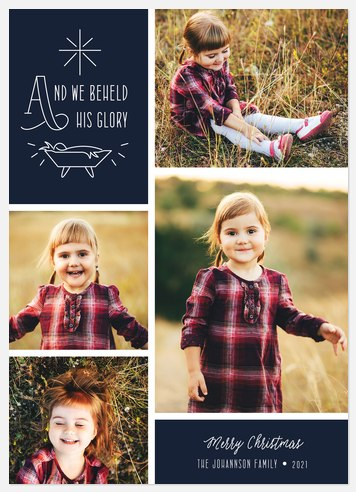 Blessed Glory Holiday Photo Cards