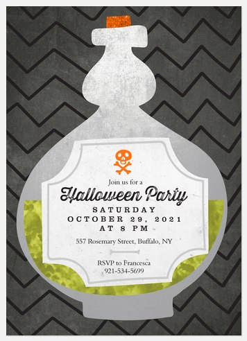 Spooky Potion Halloween Photo Cards