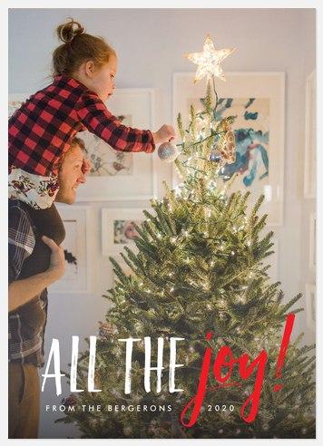 Wonderful Joy Holiday Photo Cards