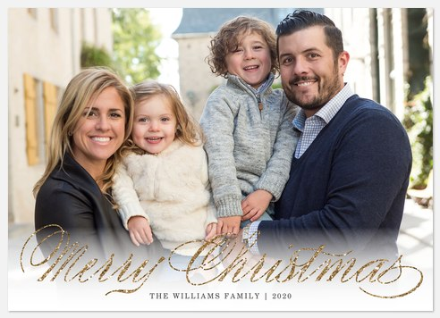Sparkly Elegance Holiday Photo Cards