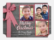 Plaid Bow -  holiday cards