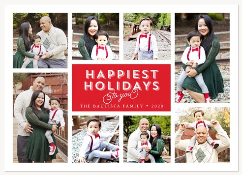Holiday Album Personalized Holiday Cards