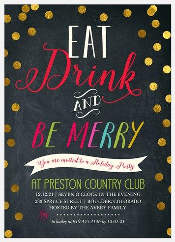 Polished Dots Holiday Party Invitations