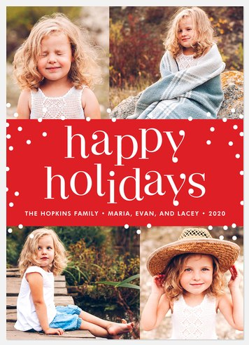 Holi Dots Holiday Photo Cards
