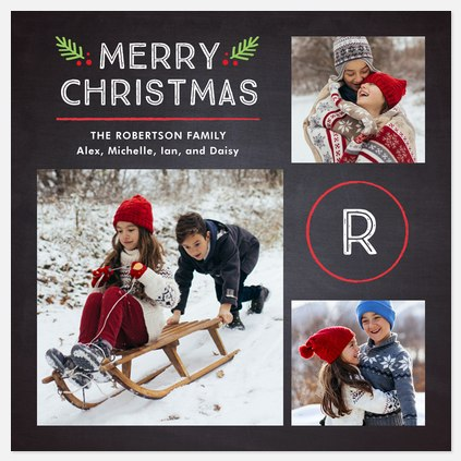 Merry Monogram Holiday Photo Cards