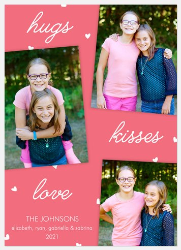 Hugs Kisses Love Valentine Photo Cards