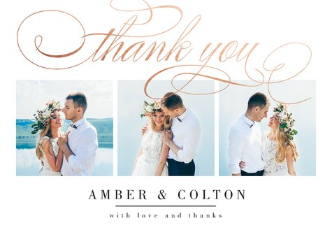 Thank You Cards , Scripted Thanks Design