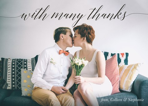 Thank You Cards , With Many Thanks Design