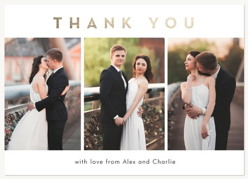 Elegant Thank You Wedding Cards