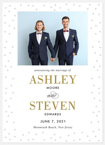Shimmery Joy Wedding Announcements
