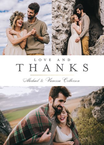 Thank You Cards , Love and Thanks Design