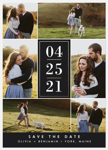 Date Collage Save the Date Photo Cards