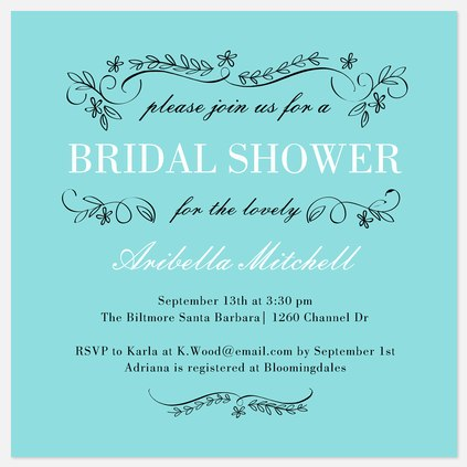 Flowering Trellis Bridal Shower Invitations