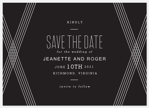 Stylish Ribbons Save the Date Photo Cards