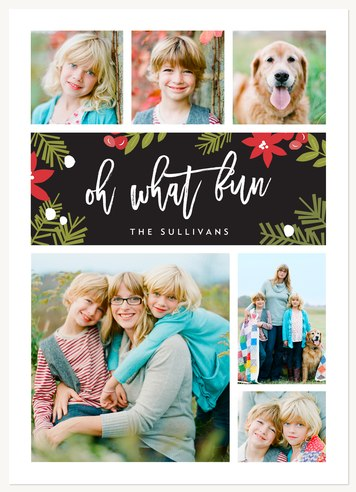 Personalized Holiday Cards, Forested Cheer Design