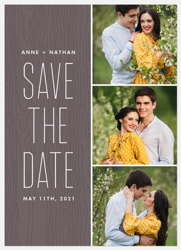 Rustic Style Save the Date Photo Cards