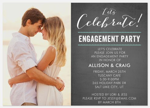 Vintage Elegance Engagement Party Invitations