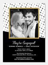 Tumbling Geo - Engagement Party Invitations